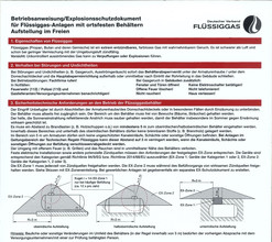 Betriebsanweisung für Flüssiggasanlagen