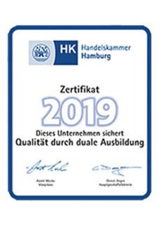 Faerbergas Ausbildung IHK-Zertifikat 2019