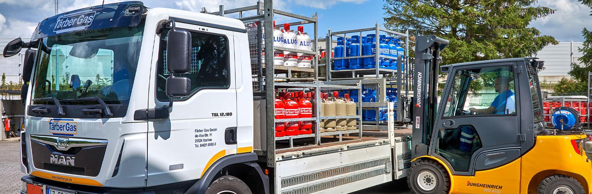 Färber Gas Privatkunden Flaschengas