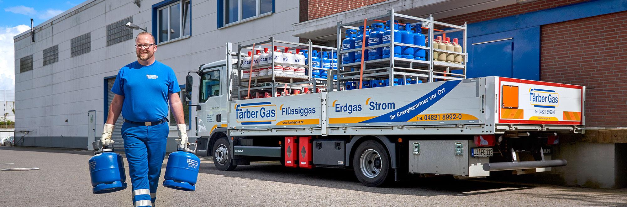 Färber Gas Flüssiggas Privatkunden Flaschengas Vertriebsstellen