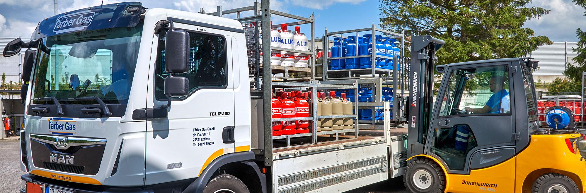 Färber Gas Gewerbekunden Flaschengas