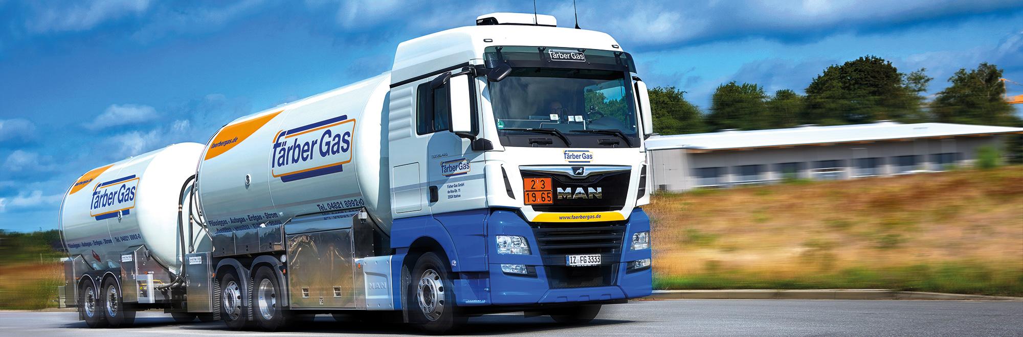 Färber Gas Tankgas