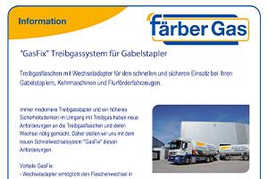 Information Färber Gas GasFix Treibgassystem für Gabelstapler