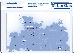 Liefergebiete Färbergas