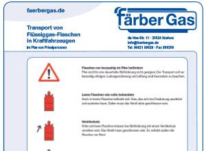 Transport von Flüssiggasflaschen