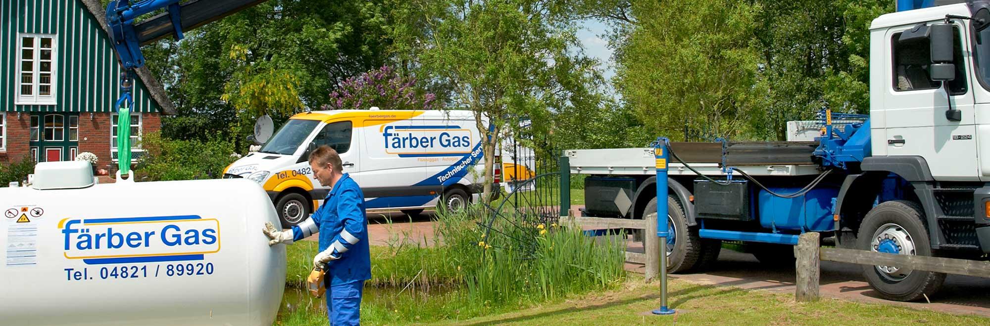 Färber Gas Flüssiggas Privatkunden Tankgas Lagerarten