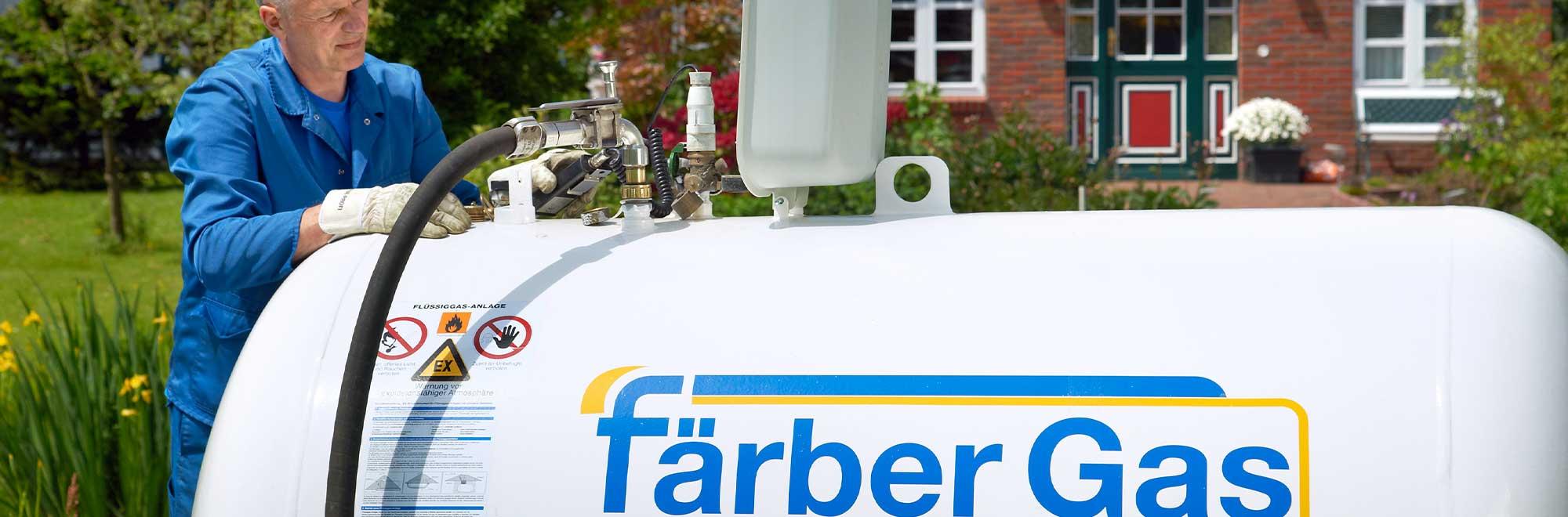 Färber Gas Flüssiggas Privatkunden Tankgas