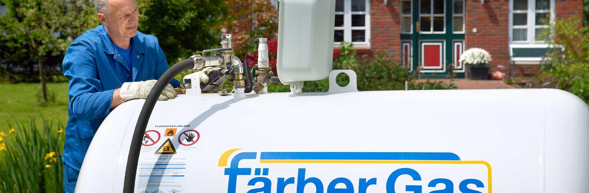 Färber Gas Startseite Intro Bild Gastank
