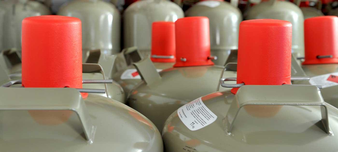 Färber Gas Privatkunden Flaschengas Größe und Art
