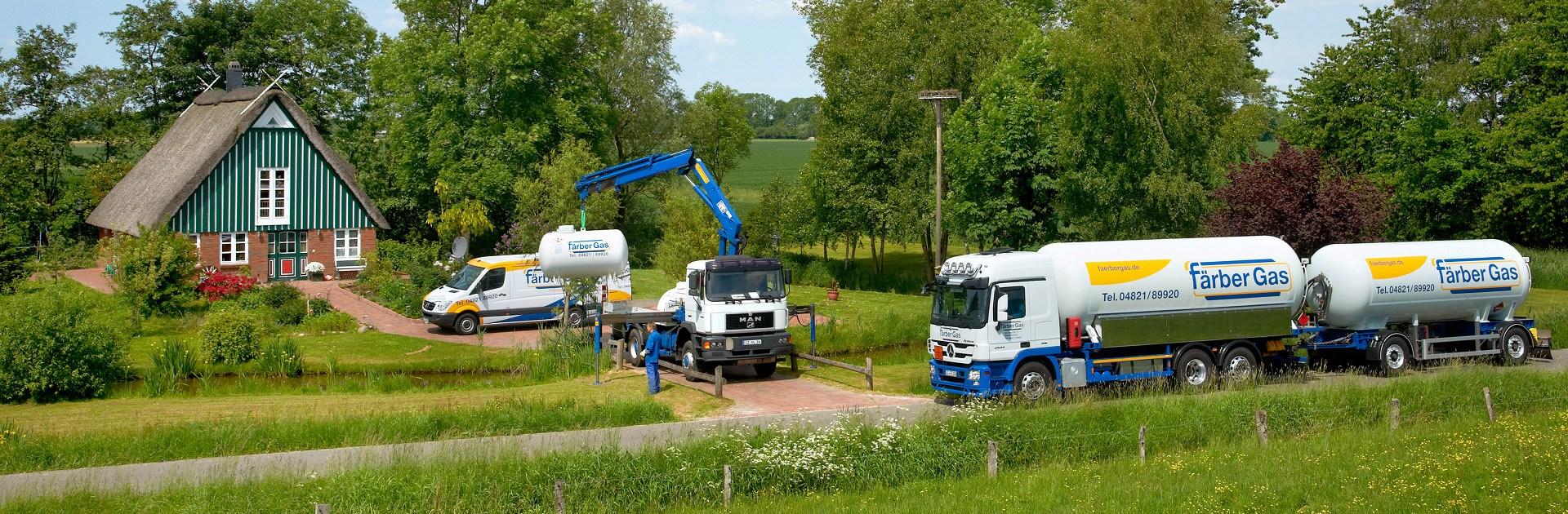 Färber Gas Startseite ein Anbieter drei Energieträger